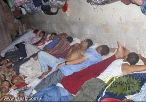 Slave workers sleeping in their company provided rooms