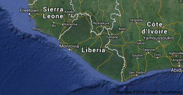 Liberia with neighbors