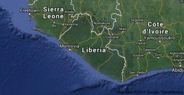 Liberia with neighbors