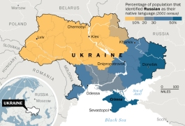 Ukraine, Russian speaking population map