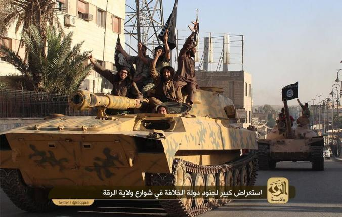 Islamic State Militants with a Tank at a parade